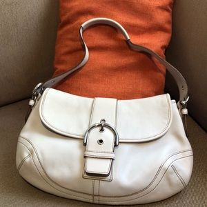 Coach leather hand bag